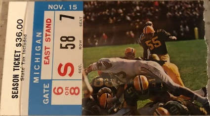 1969 Michigan Ticket