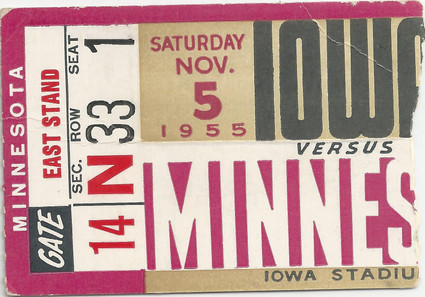 1955 Minnesota Ticket