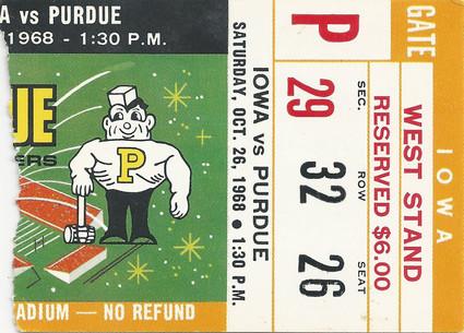 1968 @ Purdue Ticket