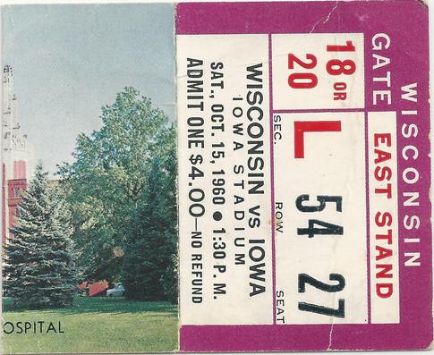 1960 Wisconsin Ticket
