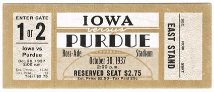 37 @ Purdue Ticket