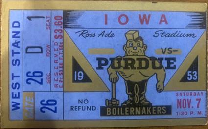 1953 @ Purdue Ticket