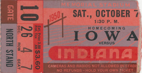 1950 @ Indiana Ticket
