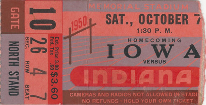 1950 @ Indiana Ticket