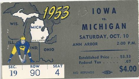1953 @ Michigan Ticket