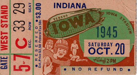 1945 Indiana Ticket