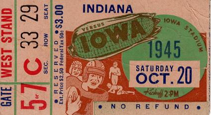 1945 Indiana Ticket