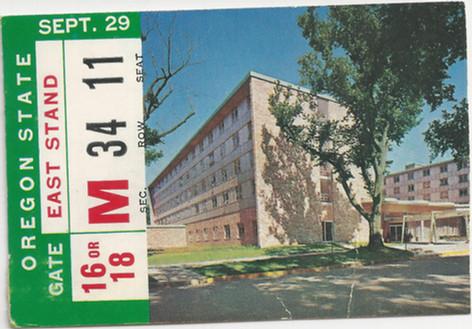1962 Oregon St. Ticket