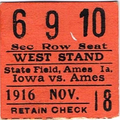 1916 @ Ames Ticket