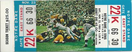 1963 Notre Dame Ticket