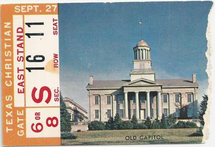 1958 TCU Ticket