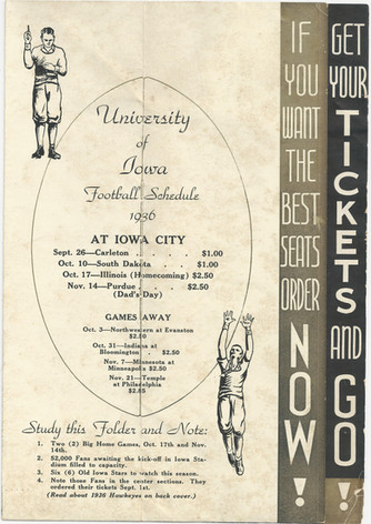 1936 Ticket Brochure