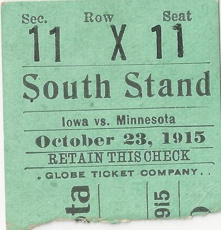 1915 @ Minnesota Ticket