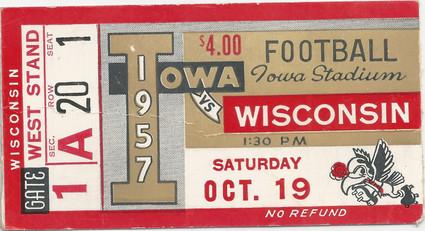 1957 Wisconsin Ticket