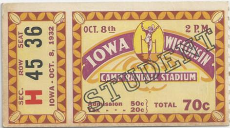 1932 @ Wisconsin Ticket
