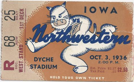 1936 @ Northwestern Ticket