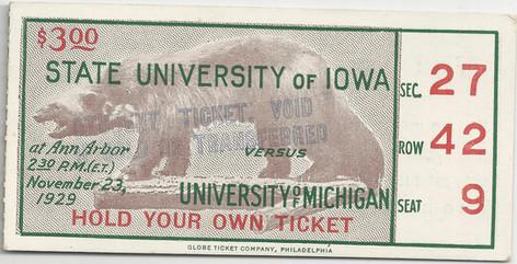 1929 @ Michigan Ticket
