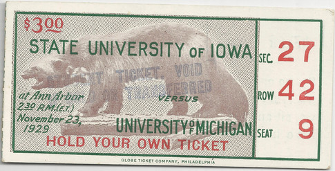 1929 @ Michigan Ticket