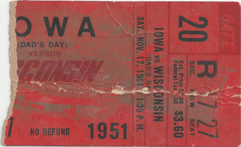 1951 @ Wisconsin Ticket
