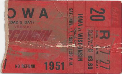 1951 @ Wisconsin Ticket