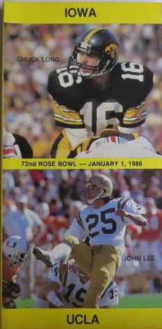1986 rose bowl media guide
