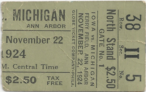 1924 @ Michigan Ticket