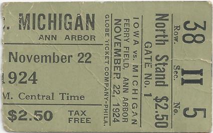 1924 @ Michigan Ticket