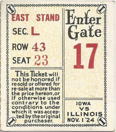 1924 @ Illinois Ticket