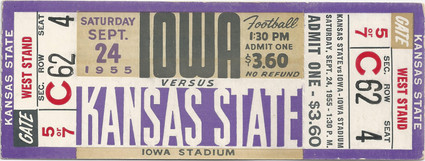 1955 @ Kansas State Ticket