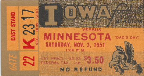 1951 Minnesota Ticket