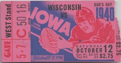 1940 Wisconsin Ticket
