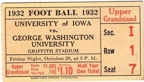 1932 @ George Washington Ticket