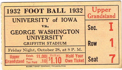 1932 @ George Washington Ticket