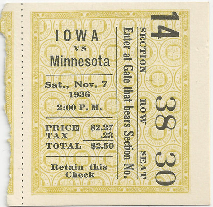 1936 @ Minnesota Ticket