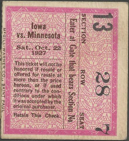 1927 @ Minnesota Ticket