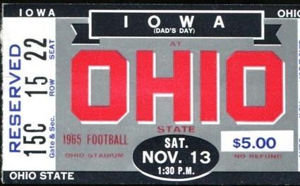 1965 @ Ohio St Ticket
