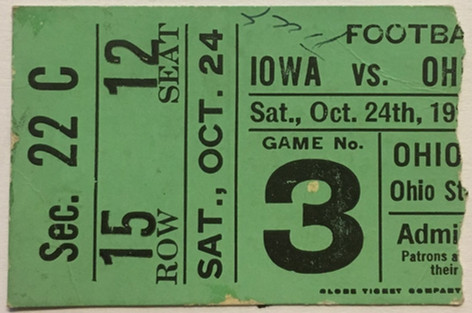 1925 @ Ohio State Ticket