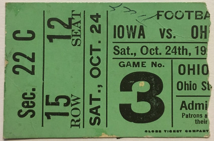 1925 @ Ohio State Ticket