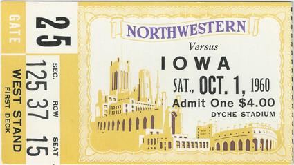 1960 @ Northwestern Ticket