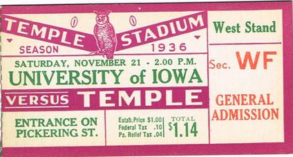 1936 @ Temple Ticket