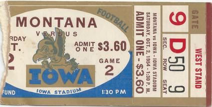 1954 Montana Ticket