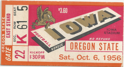 1956 Oregon State Ticket