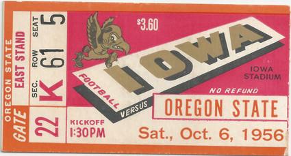 1956 Oregon State Ticket