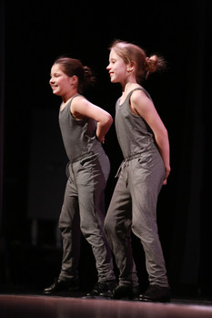 Our youngest tap team members perform at Ashland High School