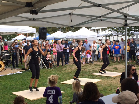 Tap team performs at the Ashland Farmer's Market