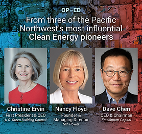 Op-Ed on Clean Materials: An Economic Engine for the Pacific Northwest and Beyond.