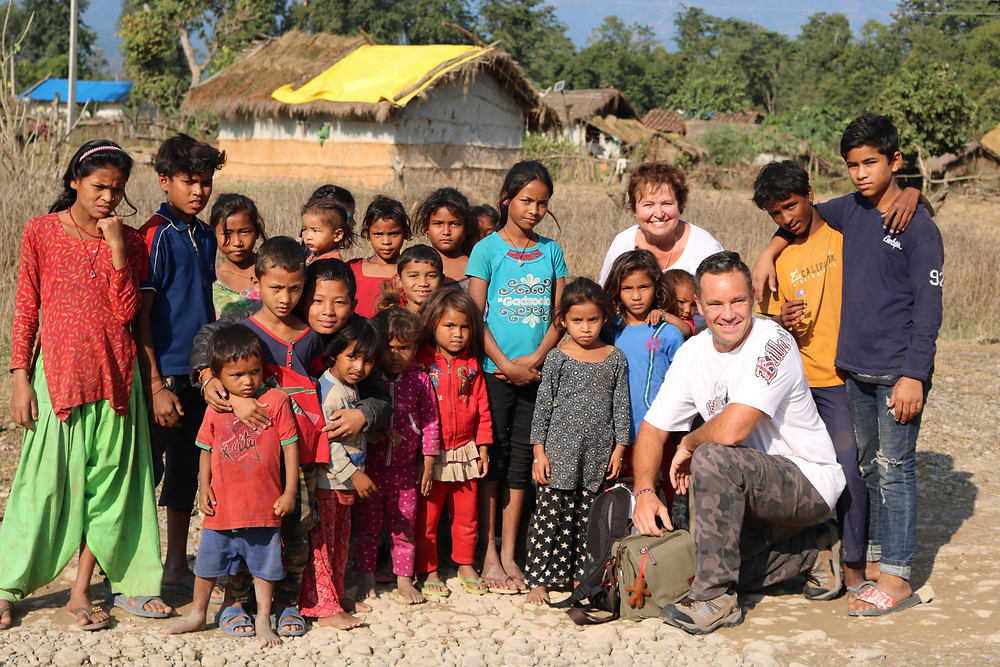 Getting Closer team tour. Village Visits