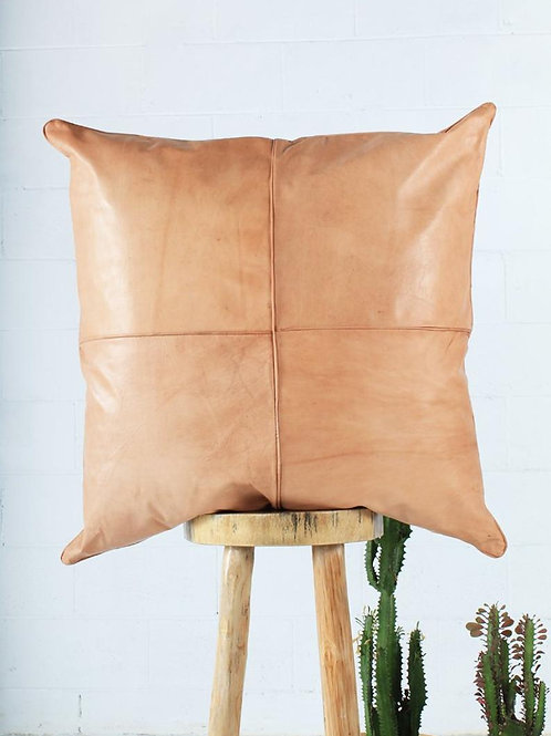 Leather Square Luxury Simple Pillow Caramel NP2CR