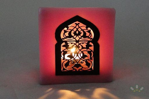 Moroccan Candle Holder pink
