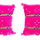 Thumbnail: Moroccan Wedding Blanket Pillow Handira Pink